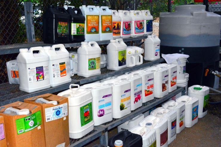 compost tea and liquid nutrients