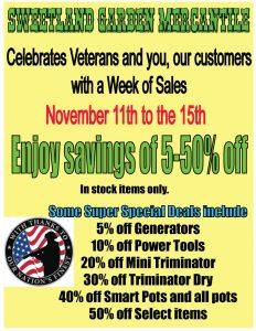 Veterans Sale 2019